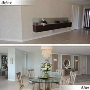 Dining Room / Foyer Before & After